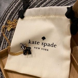 Kate Spade  French Bull Dog Pendant Necklace